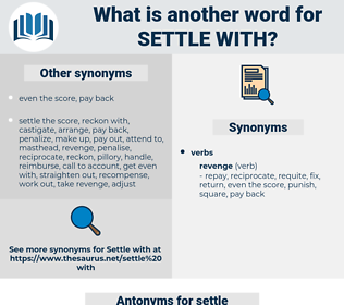 settle with, synonym settle with, another word for settle with, words like settle with, thesaurus settle with