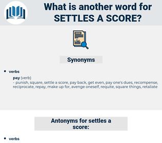 settles a score, synonym settles a score, another word for settles a score, words like settles a score, thesaurus settles a score