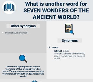 seven wonders of the ancient world, synonym seven wonders of the ancient world, another word for seven wonders of the ancient world, words like seven wonders of the ancient world, thesaurus seven wonders of the ancient world