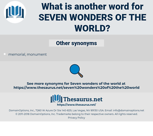 seven wonders of the world, synonym seven wonders of the world, another word for seven wonders of the world, words like seven wonders of the world, thesaurus seven wonders of the world