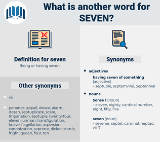 seven, synonym seven, another word for seven, words like seven, thesaurus seven