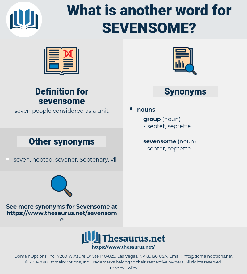 sevensome, synonym sevensome, another word for sevensome, words like sevensome, thesaurus sevensome
