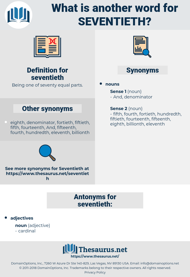 seventieth, synonym seventieth, another word for seventieth, words like seventieth, thesaurus seventieth