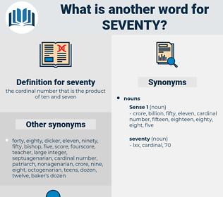 seventy, synonym seventy, another word for seventy, words like seventy, thesaurus seventy
