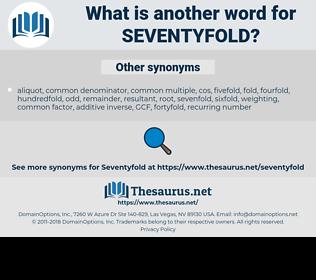seventyfold, synonym seventyfold, another word for seventyfold, words like seventyfold, thesaurus seventyfold