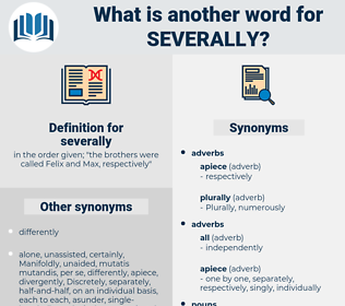 severally, synonym severally, another word for severally, words like severally, thesaurus severally