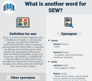sew, synonym sew, another word for sew, words like sew, thesaurus sew