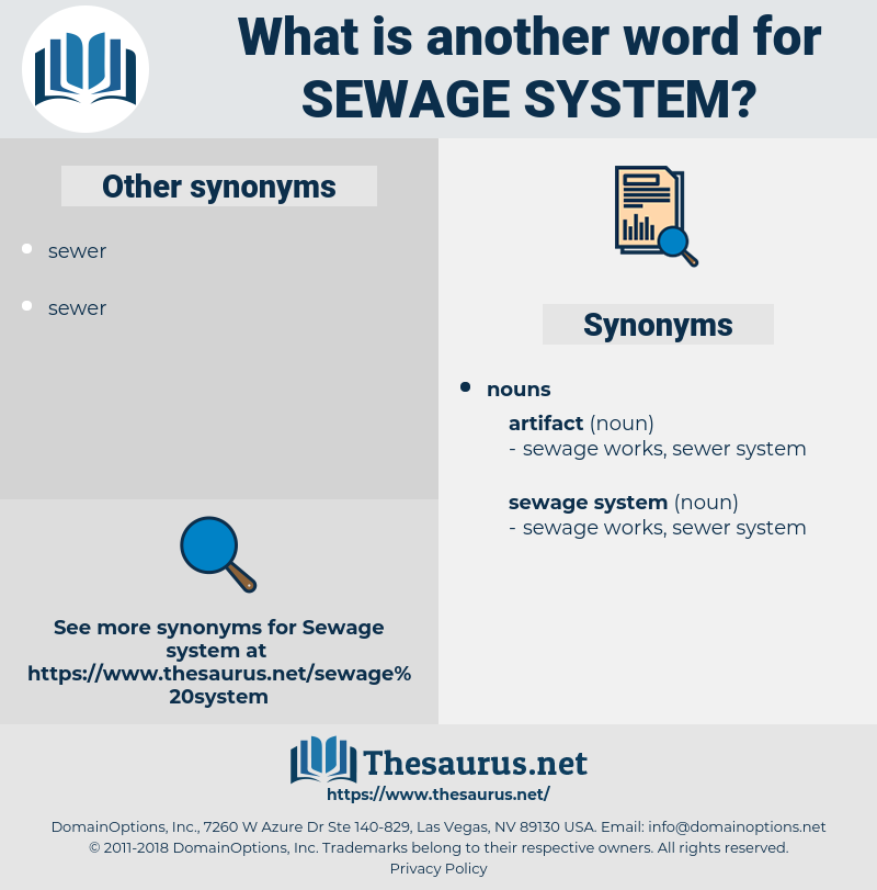 sewage system, synonym sewage system, another word for sewage system, words like sewage system, thesaurus sewage system