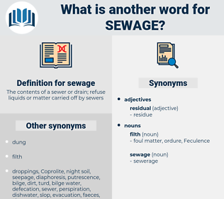 sewage, synonym sewage, another word for sewage, words like sewage, thesaurus sewage