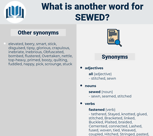 sewed, synonym sewed, another word for sewed, words like sewed, thesaurus sewed