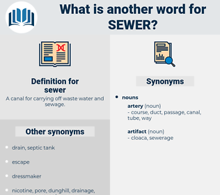 sewer, synonym sewer, another word for sewer, words like sewer, thesaurus sewer