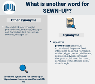 sewn up, synonym sewn up, another word for sewn up, words like sewn up, thesaurus sewn up