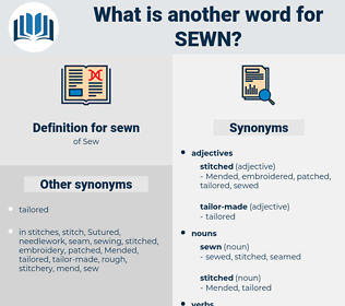 sewn, synonym sewn, another word for sewn, words like sewn, thesaurus sewn