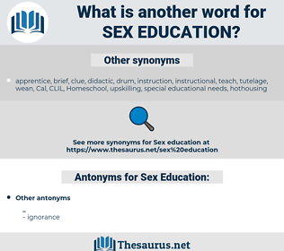 Sex Education, synonym Sex Education, another word for Sex Education, words like Sex Education, thesaurus Sex Education