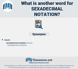 Sexadecimal Notation, synonym Sexadecimal Notation, another word for Sexadecimal Notation, words like Sexadecimal Notation, thesaurus Sexadecimal Notation