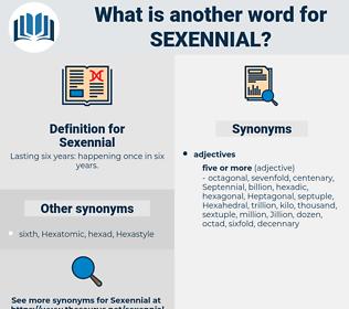 Sexennial, synonym Sexennial, another word for Sexennial, words like Sexennial, thesaurus Sexennial