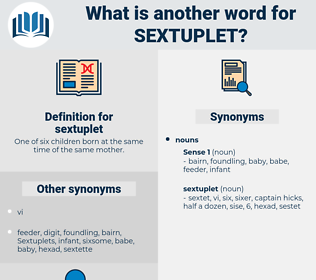 sextuplet, synonym sextuplet, another word for sextuplet, words like sextuplet, thesaurus sextuplet