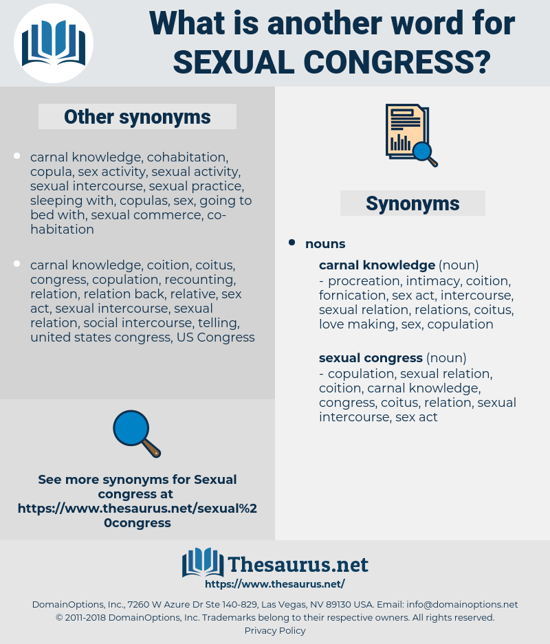 sexual congress, synonym sexual congress, another word for sexual congress, words like sexual congress, thesaurus sexual congress