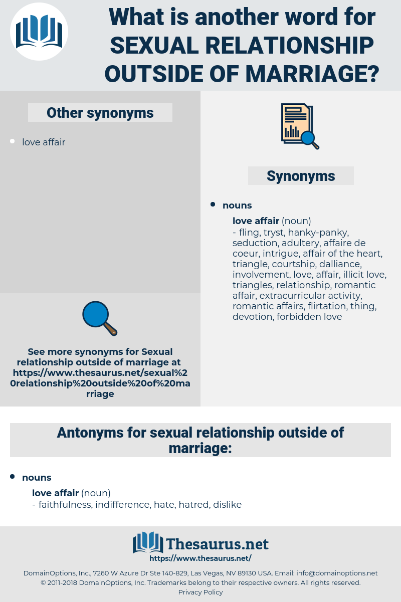 sexual relationship outside of marriage, synonym sexual relationship outside of marriage, another word for sexual relationship outside of marriage, words like sexual relationship outside of marriage, thesaurus sexual relationship outside of marriage