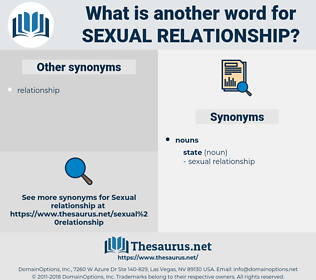 sexual relationship, synonym sexual relationship, another word for sexual relationship, words like sexual relationship, thesaurus sexual relationship