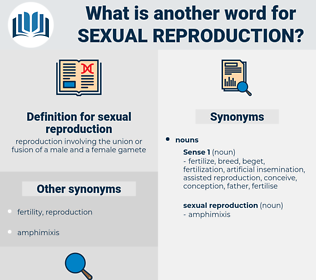 sexual reproduction, synonym sexual reproduction, another word for sexual reproduction, words like sexual reproduction, thesaurus sexual reproduction