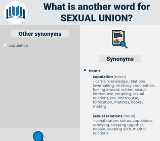 sexual union, synonym sexual union, another word for sexual union, words like sexual union, thesaurus sexual union