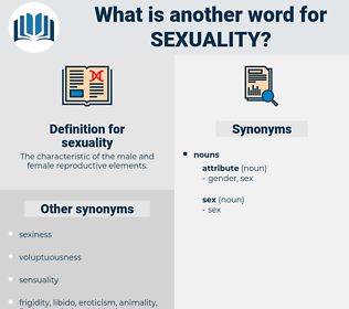 sexuality, synonym sexuality, another word for sexuality, words like sexuality, thesaurus sexuality