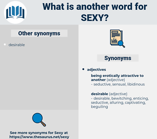 Synonyms For Sexy Antonyms For Sexy Thesaurus Net