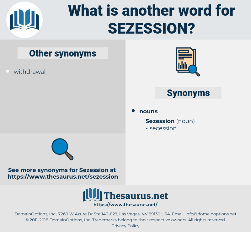 sezession, synonym sezession, another word for sezession, words like sezession, thesaurus sezession
