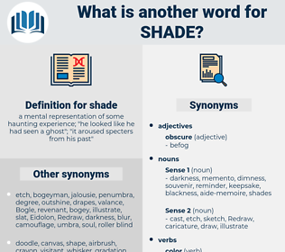 shade, synonym shade, another word for shade, words like shade, thesaurus shade