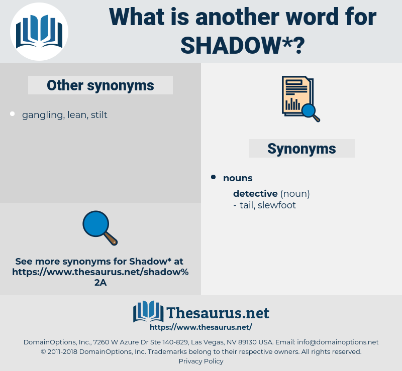 shadow, synonym shadow, another word for shadow, words like shadow, thesaurus shadow
