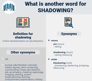 shadowing, synonym shadowing, another word for shadowing, words like shadowing, thesaurus shadowing