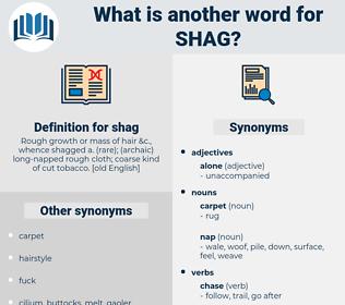 shag, synonym shag, another word for shag, words like shag, thesaurus shag