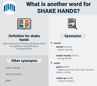 shake hands, synonym shake hands, another word for shake hands, words like shake hands, thesaurus shake hands