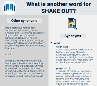 shake out, synonym shake out, another word for shake out, words like shake out, thesaurus shake out