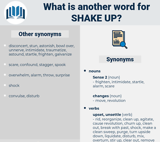 shake up, synonym shake up, another word for shake up, words like shake up, thesaurus shake up