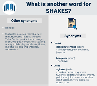 shakes, synonym shakes, another word for shakes, words like shakes, thesaurus shakes