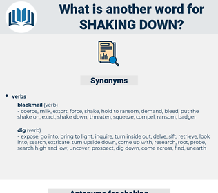 shaking down, synonym shaking down, another word for shaking down, words like shaking down, thesaurus shaking down