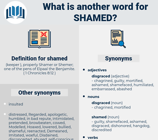 shamed, synonym shamed, another word for shamed, words like shamed, thesaurus shamed