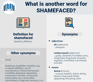 shamefaced, synonym shamefaced, another word for shamefaced, words like shamefaced, thesaurus shamefaced
