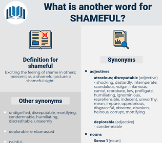 shameful, synonym shameful, another word for shameful, words like shameful, thesaurus shameful