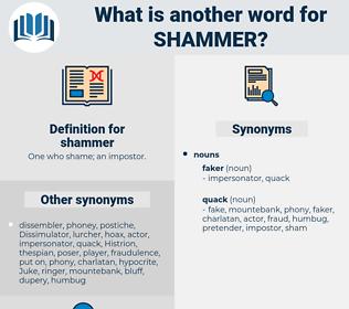 shammer, synonym shammer, another word for shammer, words like shammer, thesaurus shammer