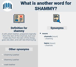 shammy, synonym shammy, another word for shammy, words like shammy, thesaurus shammy