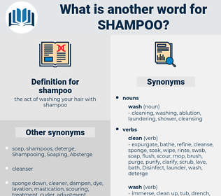 shampoo, synonym shampoo, another word for shampoo, words like shampoo, thesaurus shampoo