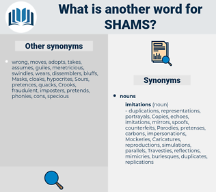shams, synonym shams, another word for shams, words like shams, thesaurus shams