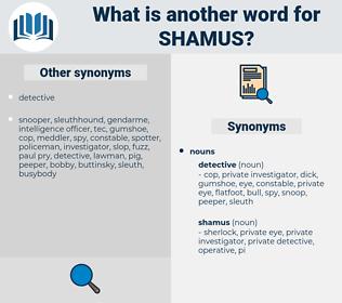 shamus, synonym shamus, another word for shamus, words like shamus, thesaurus shamus
