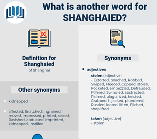 Shanghaied, synonym Shanghaied, another word for Shanghaied, words like Shanghaied, thesaurus Shanghaied
