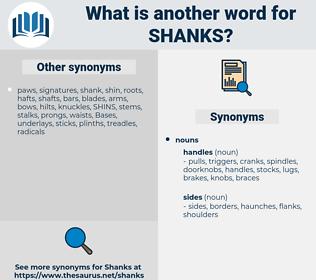 shanks, synonym shanks, another word for shanks, words like shanks, thesaurus shanks