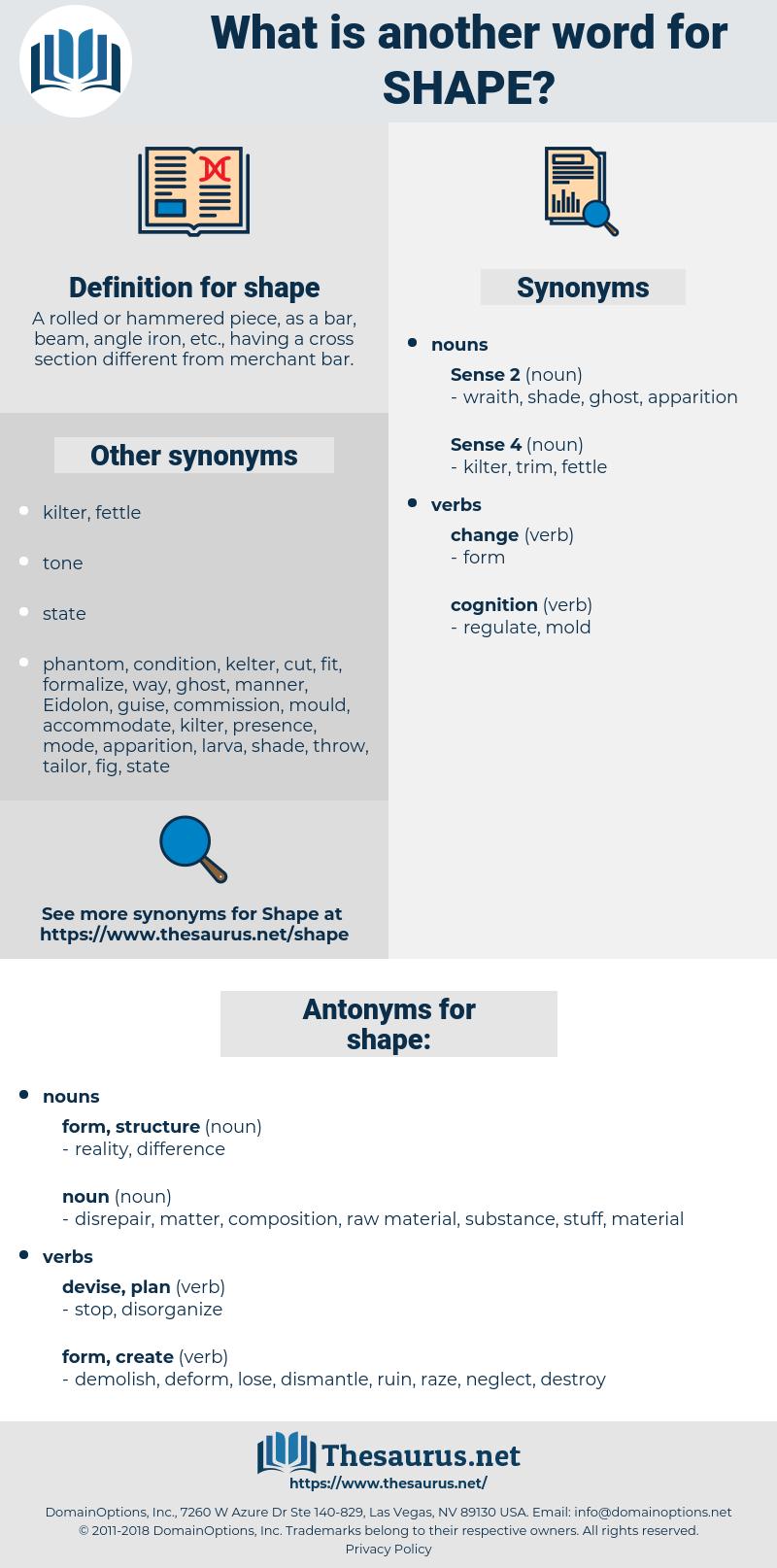 shape, synonym shape, another word for shape, words like shape, thesaurus shape