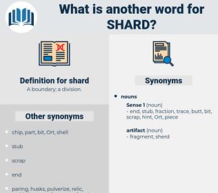shard, synonym shard, another word for shard, words like shard, thesaurus shard